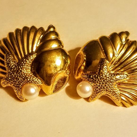a8ad7f326 Avon Jewelry | Vintage Sea Shell Earrings | Poshmark